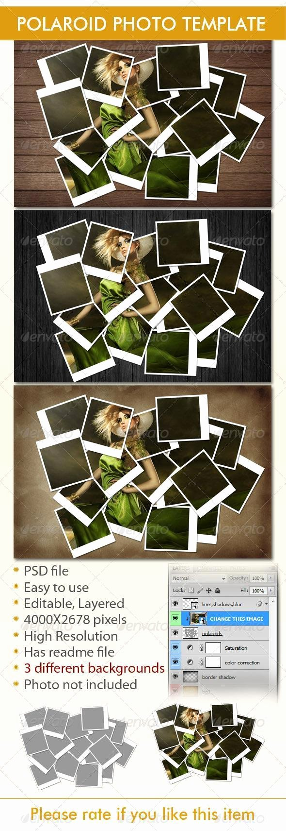 Polaroid Frame Psd Elegant 20 Polaroid Mockup Psd Templates Collection