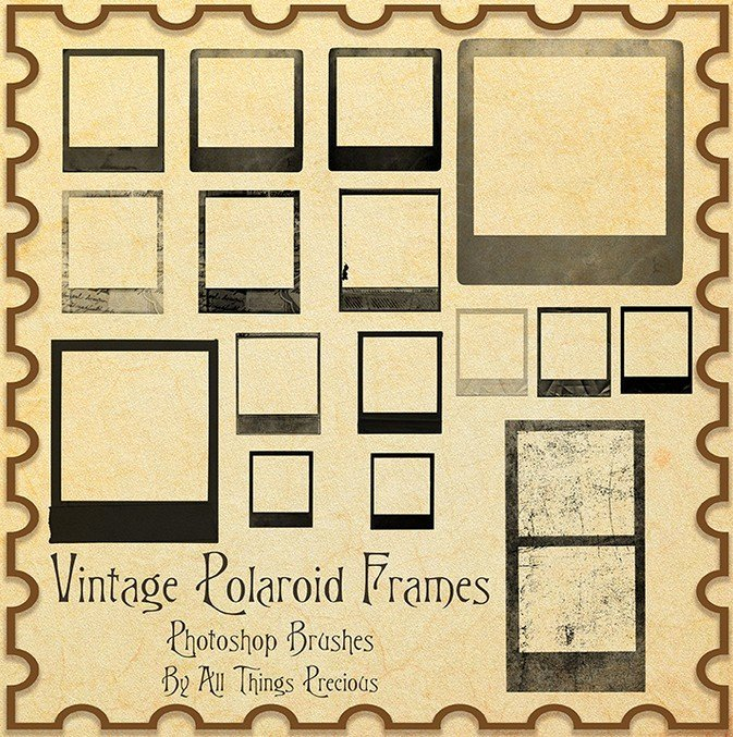 Polaroid Frame Psd Inspirational Free Vintage Polaroid Frames Shop Brushes Titanui