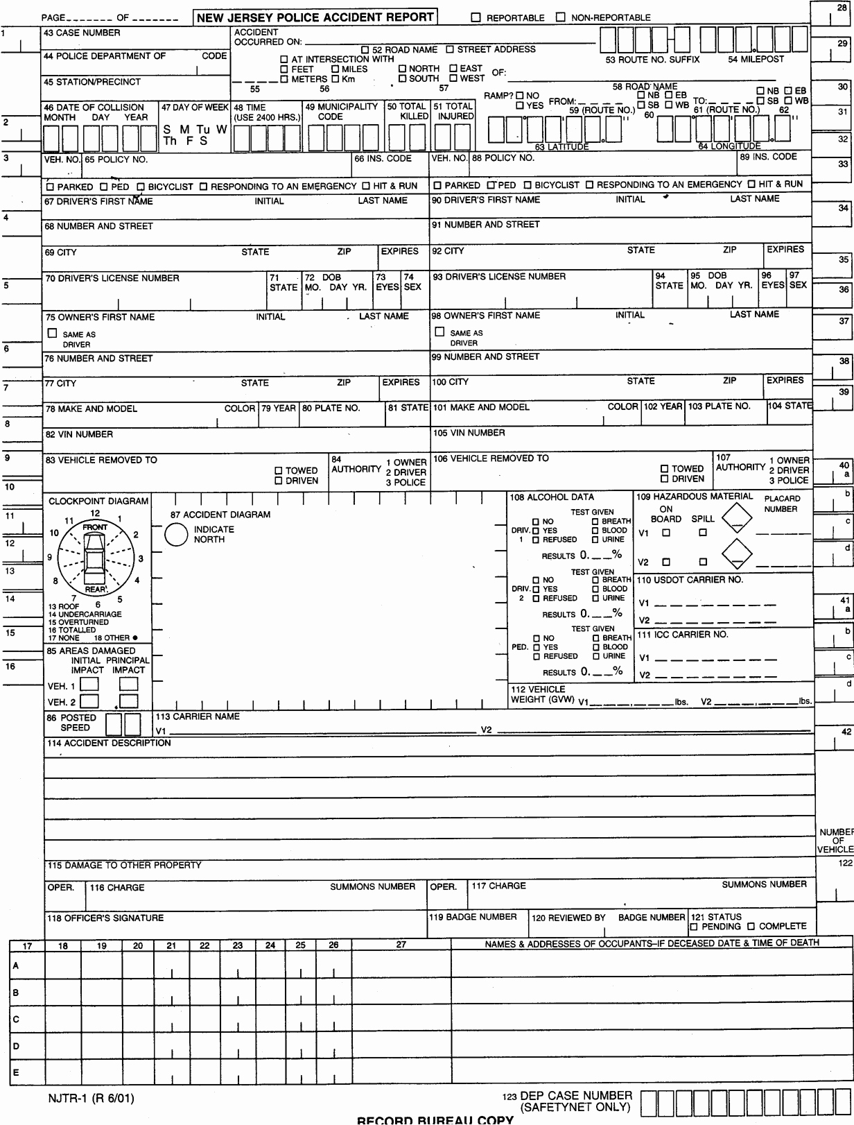 Police Accident Report form Fresh Best S Of Downloadable Police Report forms Sample