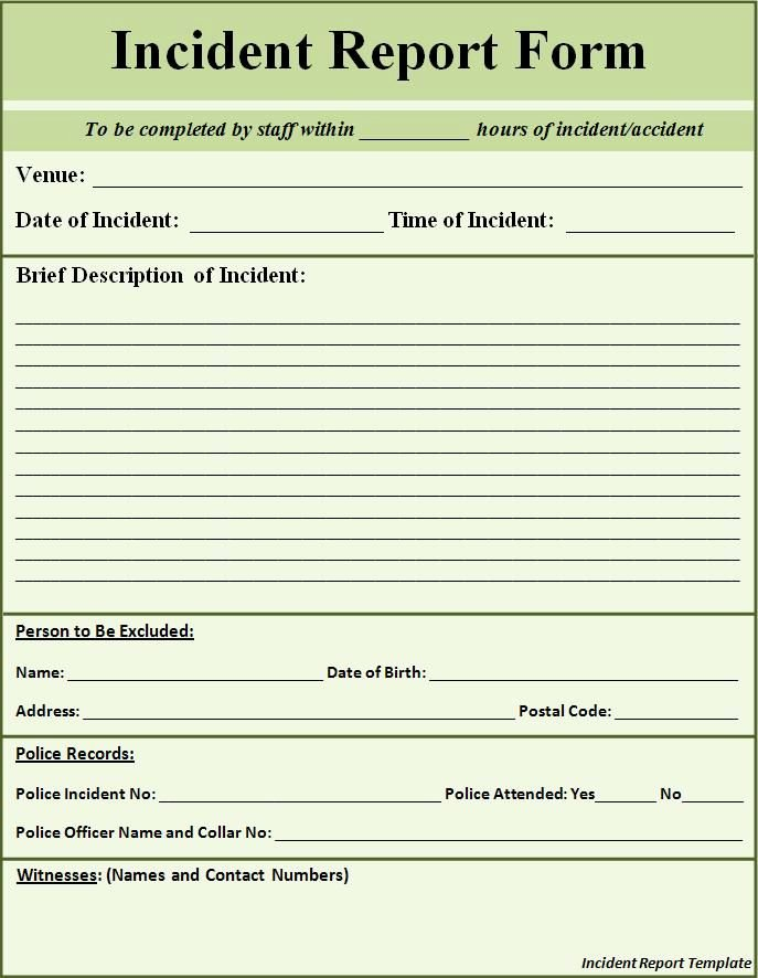 Police Accident Report form Fresh Printable Sample Police Report Template form
