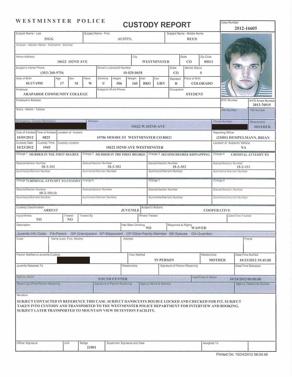Police Investigation Report Elegant Killing Killers October 2012