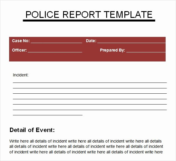 Police Report Samples Elegant Sample Police Report 5 Documents In Pdf