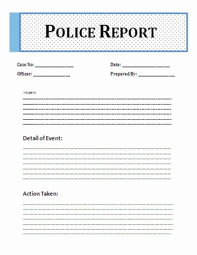 Police Report Samples Fresh Police Free Printable and Templates On Pinterest
