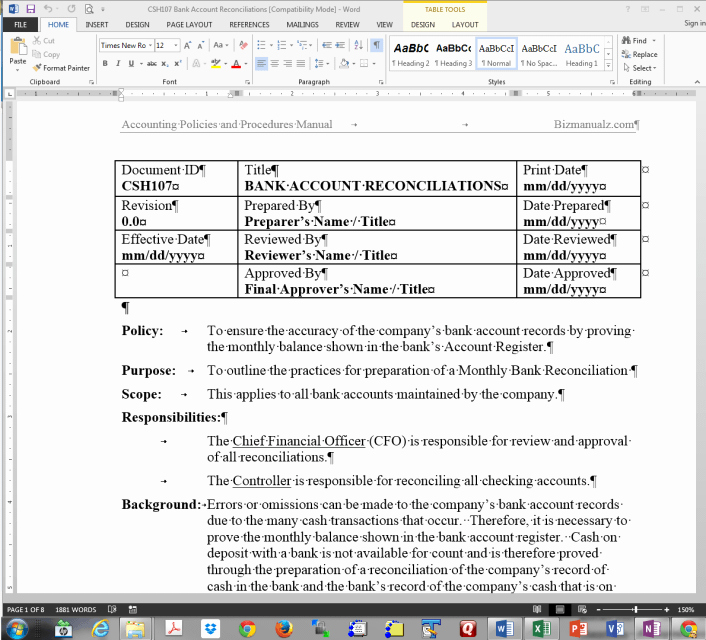 Policy and Procedure Manual Template Free Download Fresh Policy and Procedure Manual Sample Free Leadupload