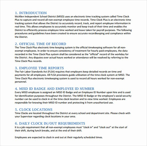 Policy and Procedure Template Free Lovely Sample Procedure Manual Template 8 Free Documents In