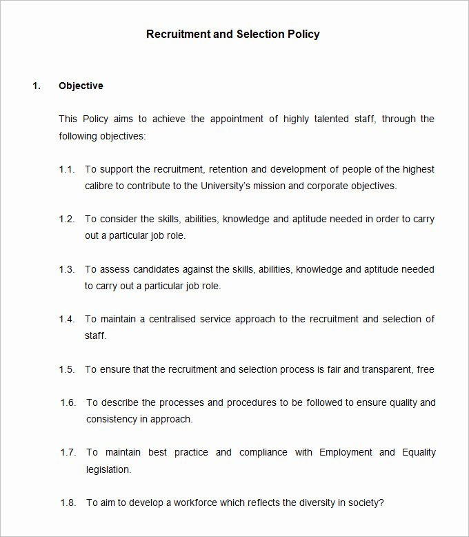 Policy and Procedure Template Free New 53 Hr Policy Templates Hr Templates