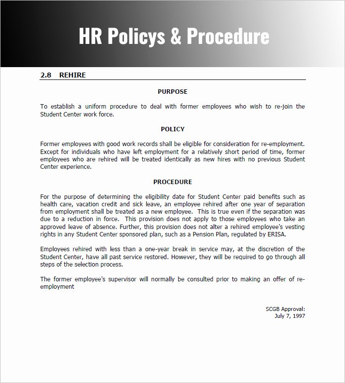 Policy and Procedure Template Free Unique 28 Policy and Procedure Templates Free Word Pdf Download