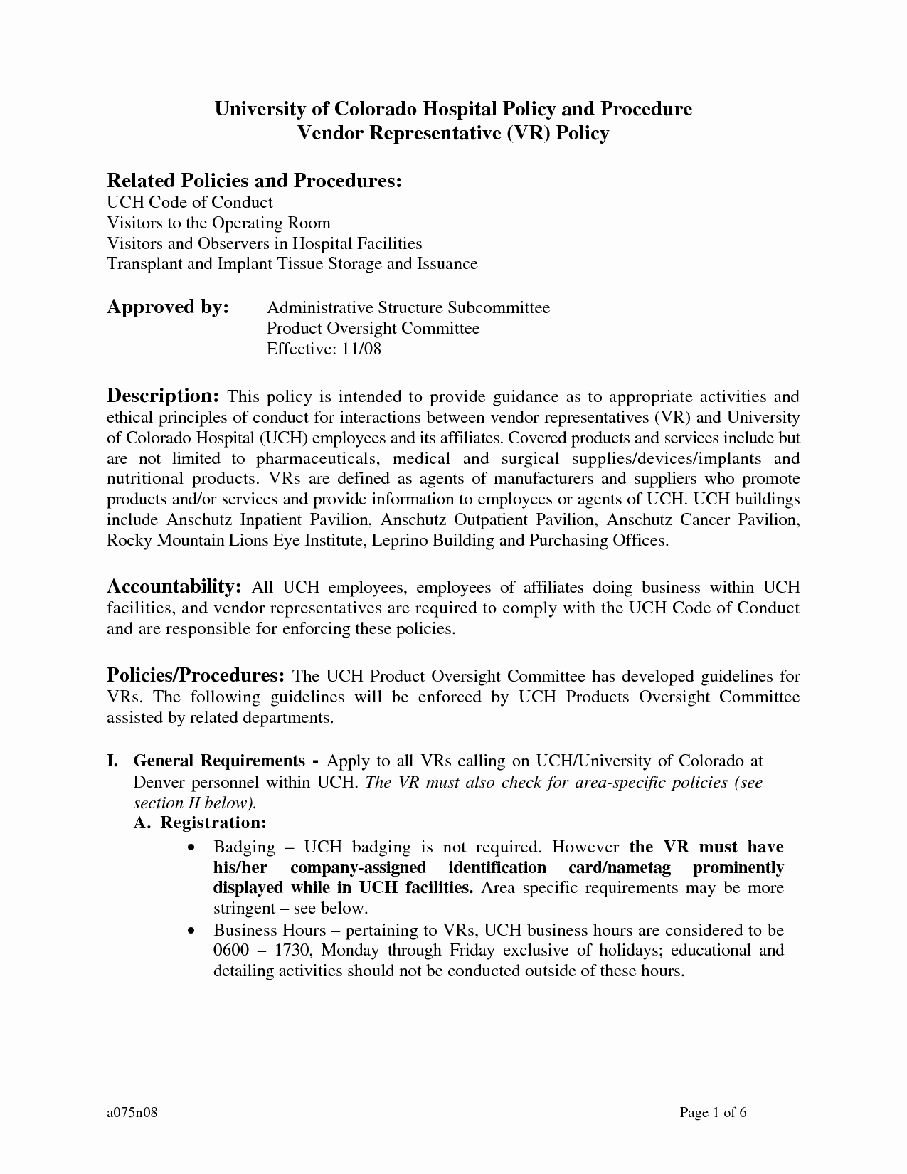Policy and Procedure Template Unique Sample Policy and Procedure Documents
