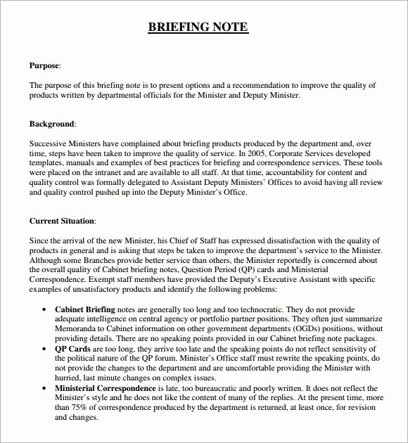 Policy Brief Template Microsoft Word Elegant 6 Briefing Note Samples Pdf Word