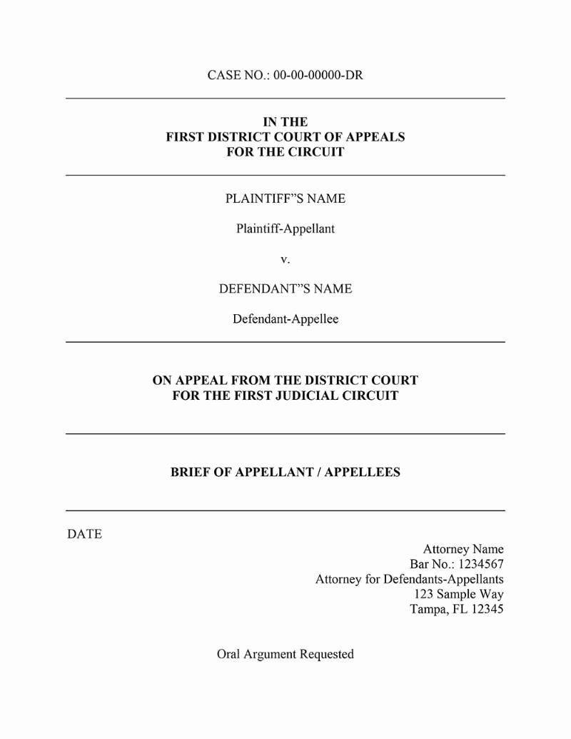 Policy Brief Template Microsoft Word Elegant Appellate Brief Template Word Templates Resume