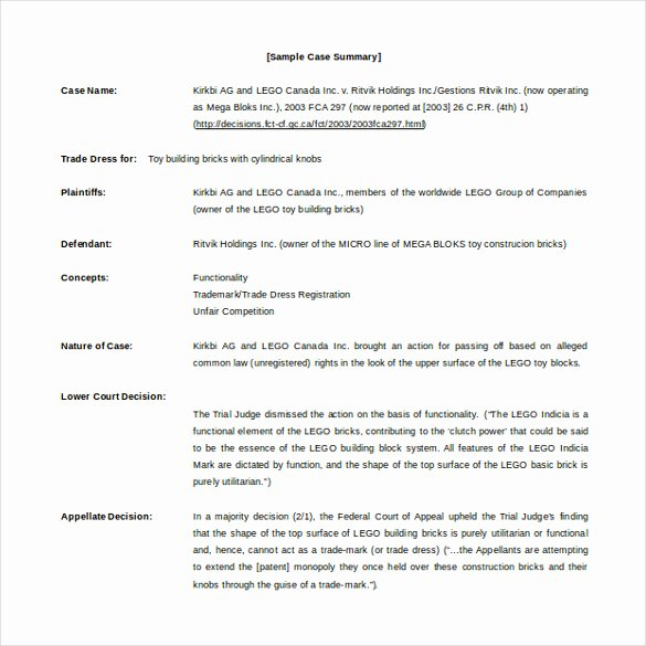 Policy Brief Template Microsoft Word New Case Brief Template