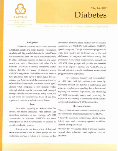 Policy Brief Templates Microsoft Word Unique Aapcho Policy Brief – Diabetes
