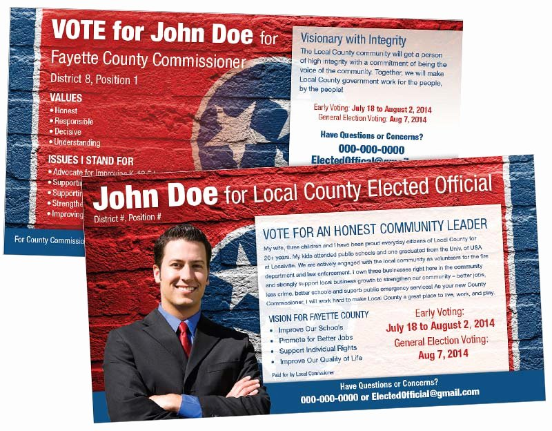 Political Mailers Template Awesome Political Postcards Political Marketing