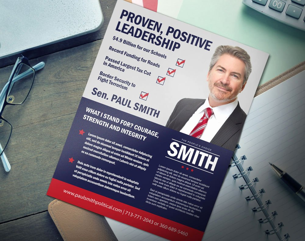 Political Mailers Template Beautiful Political Brochures Flat and Mailable
