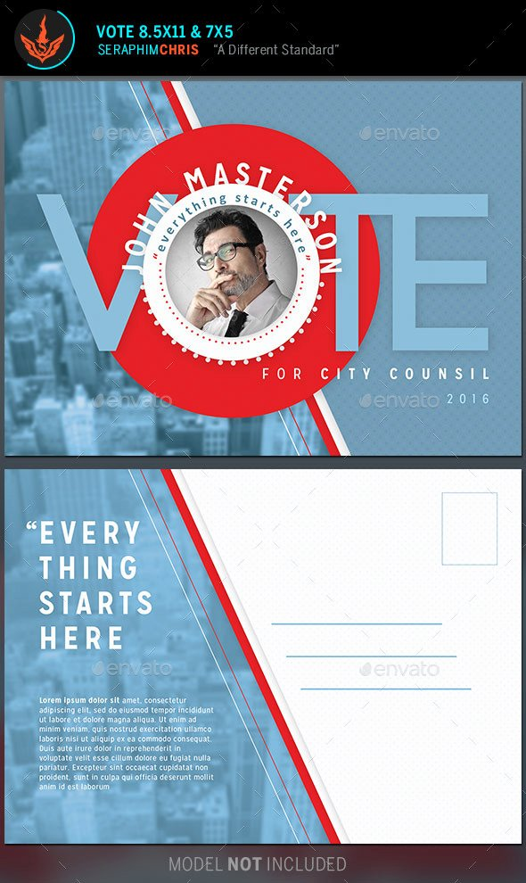 Political Mailers Template Luxury Vote Political Flyer Mailer Template