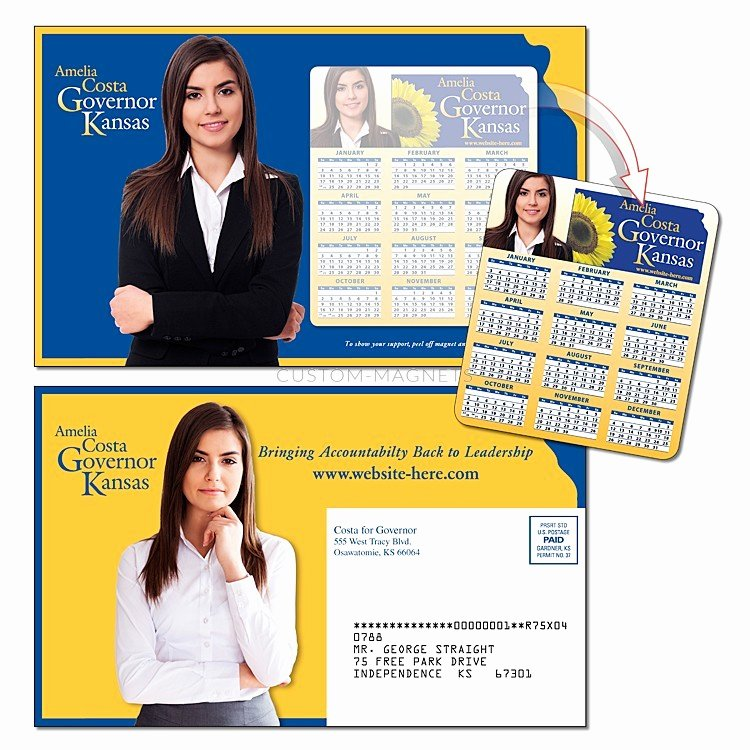 "Political Mailers Template New Custom 8 5"" X 5 25"" Magna Peel Political Postcard Mailer W"