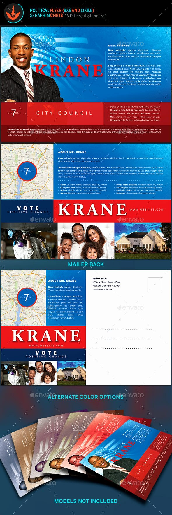 Political Mailers Template Unique Political 6x9 Flyer Template by Seraphimchris