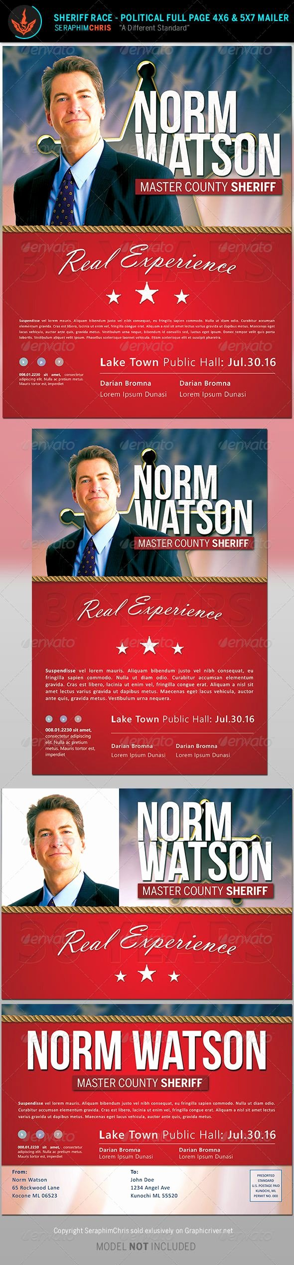 Political Mailers Template Unique Sheriff Race Political Flyer and Mailer Template