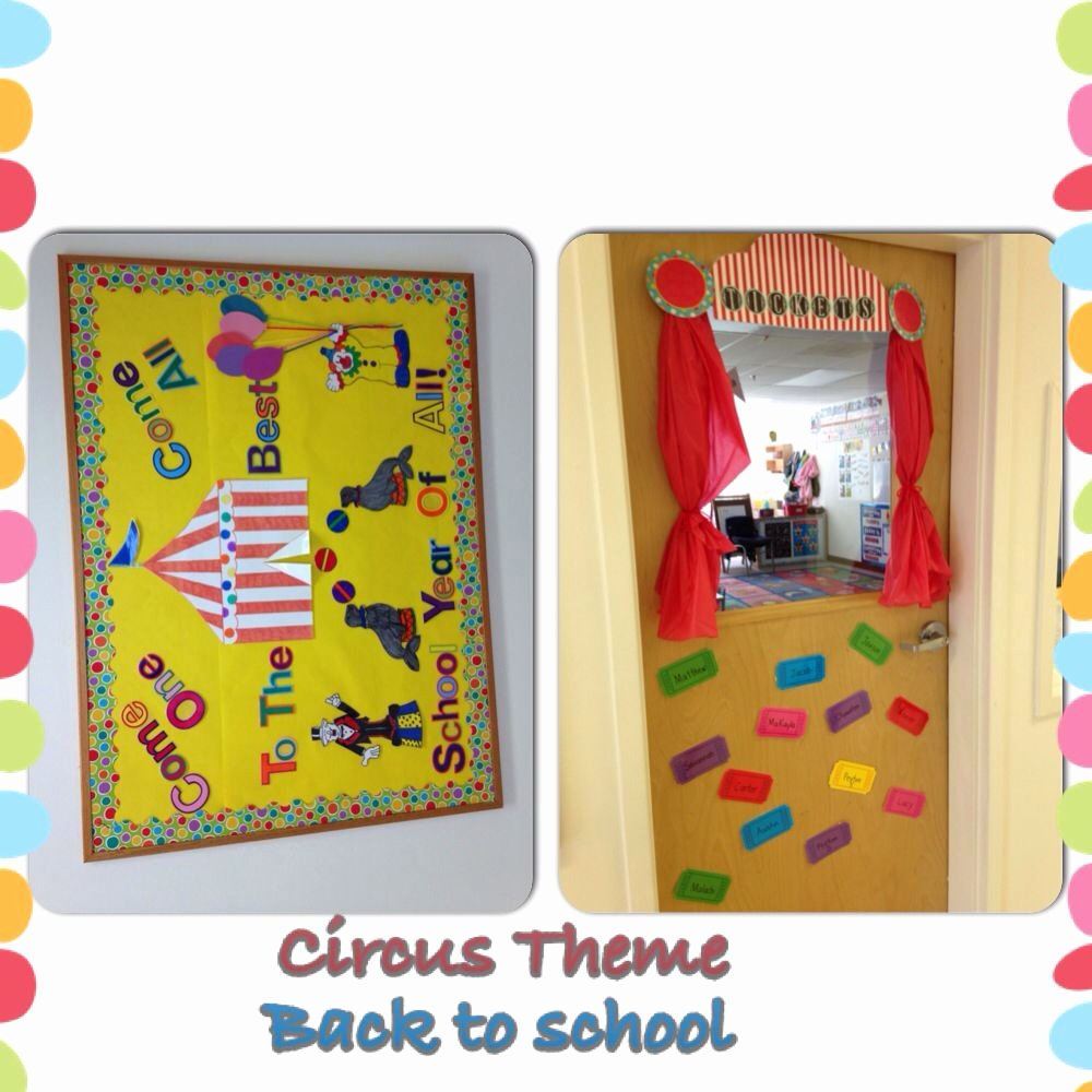 Popcorn Template for Bulletin Board Beautiful Back to School Circus theme Board Classroom Door is