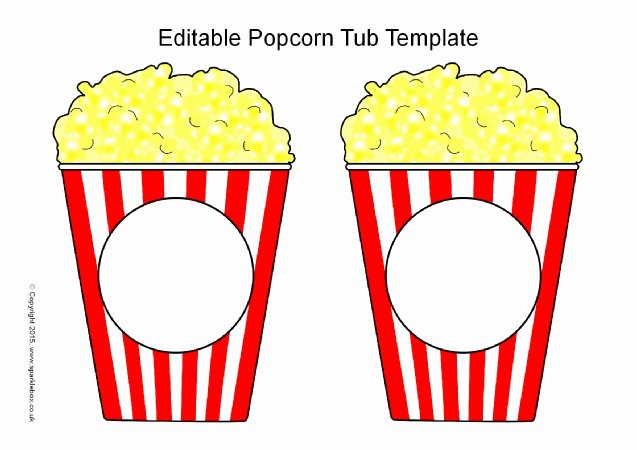 Popcorn Template for Bulletin Board Elegant Editable Popcorn Tub Templates Sb Sparklebox