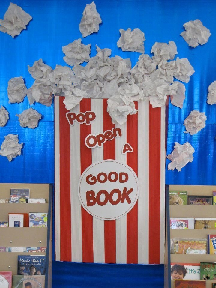 Popcorn Template for Bulletin Board Fresh Pop Open A Good Book Bulletin Board