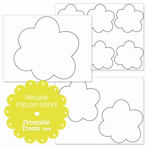 Popcorn Template for Bulletin Board Luxury Popcorn Clipart Template Pencil and In Color Popcorn