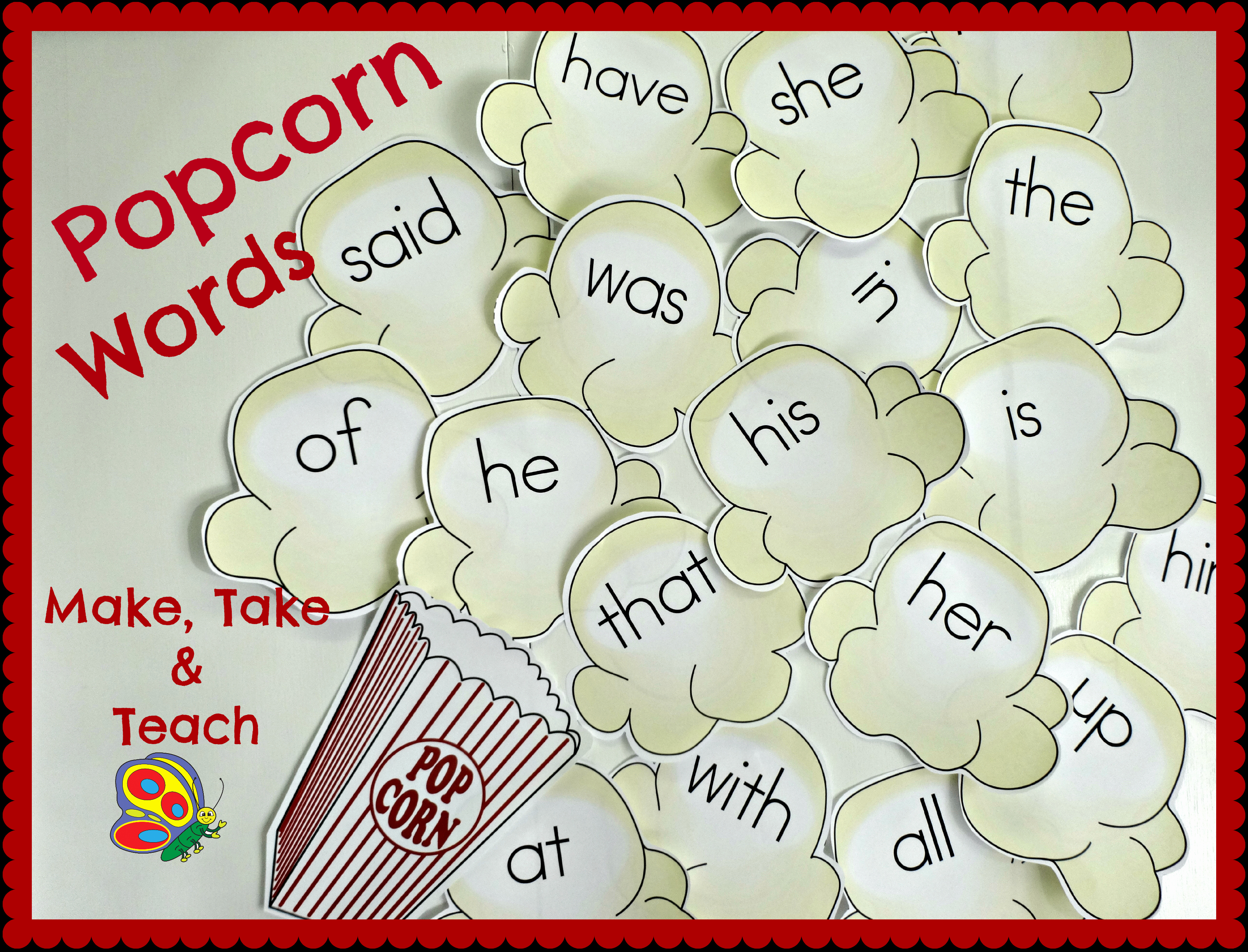 Popcorn Template for Bulletin Board New Popcorn Words Video Search Engine at Search