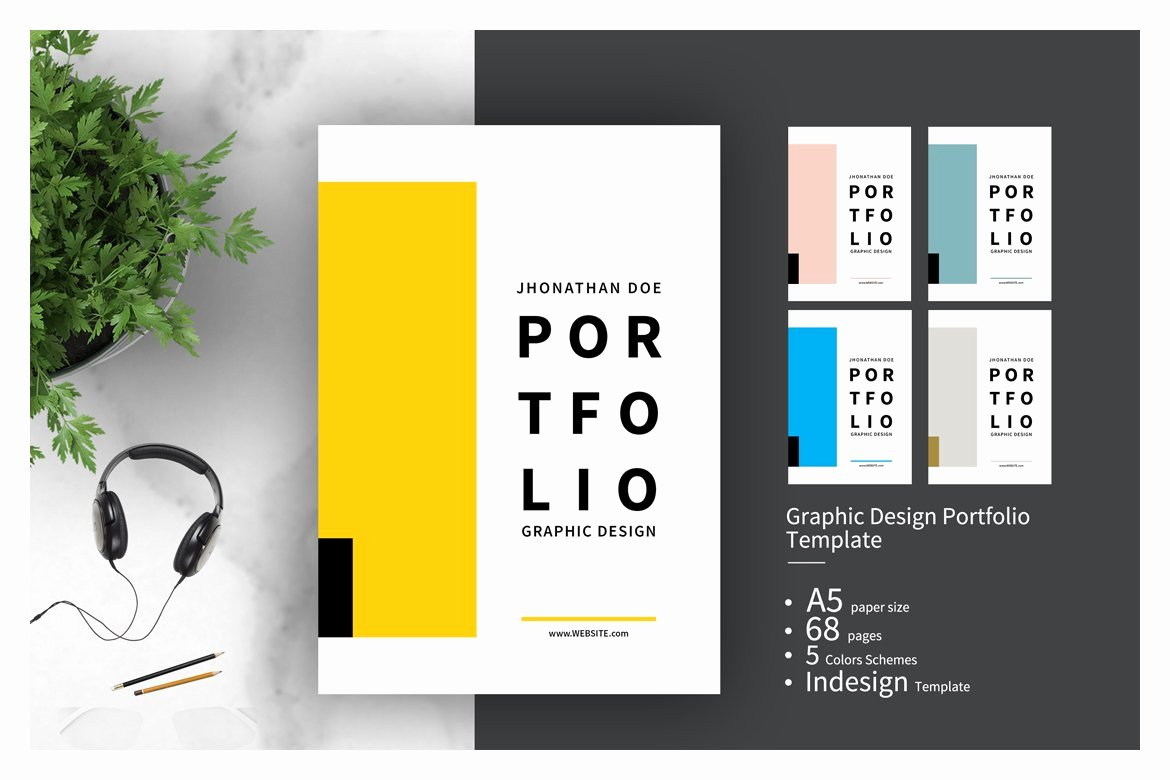 Portfolio Cover Pages Templates Awesome Graphic Design Portfolio Template Brochure Templates