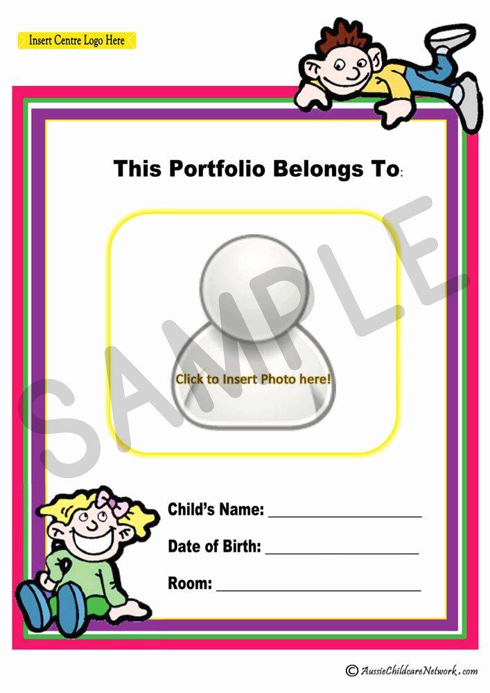 Portfolio Cover Pages Templates Elegant Portfolio Coverpage Aussie Childcare Network