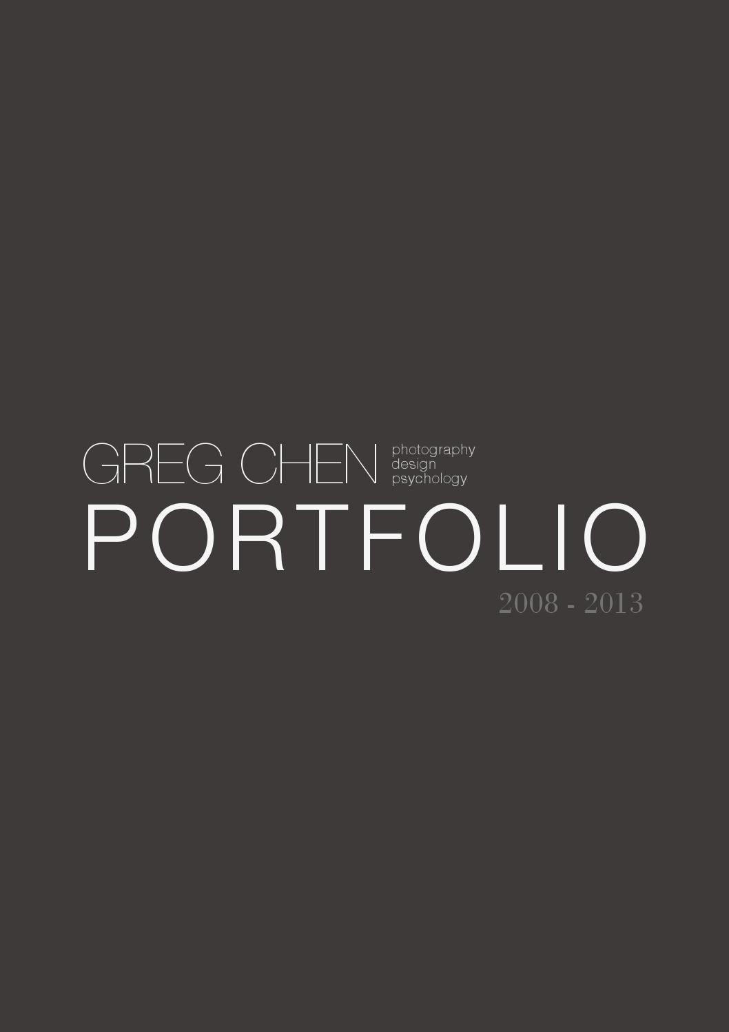 Portfolio Cover Pages Templates Lovely Greg Chen Design Portfolio 2013 by Greg Chen issuu