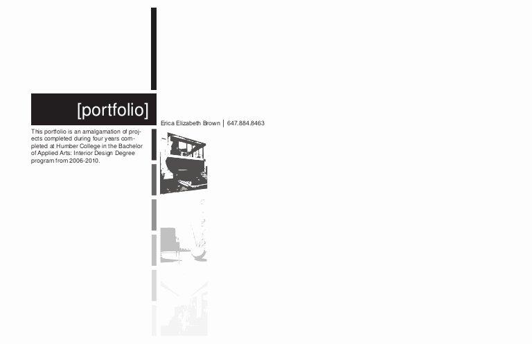 Portfolio Cover Pages Templates Lovely Interior Design Portfolio