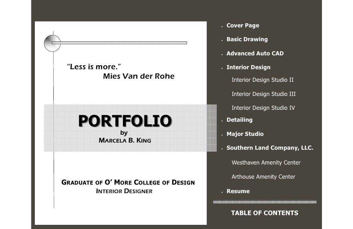 Portfolio Cover Pages Templates New 2008 Portfolio