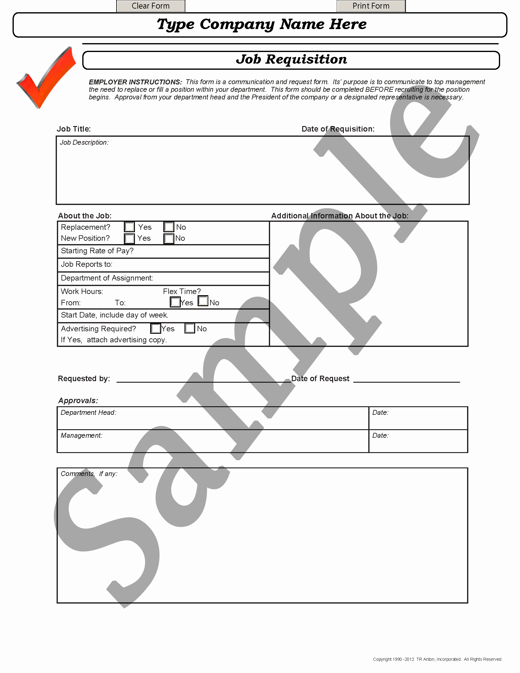 Position Requisition form Inspirational Recruitment forms and Templates Recruiter forms
