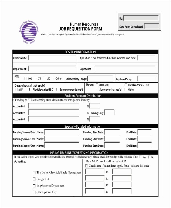 Position Requisition form New Sample Requisition form 11 Free Documents In Doc Pdf