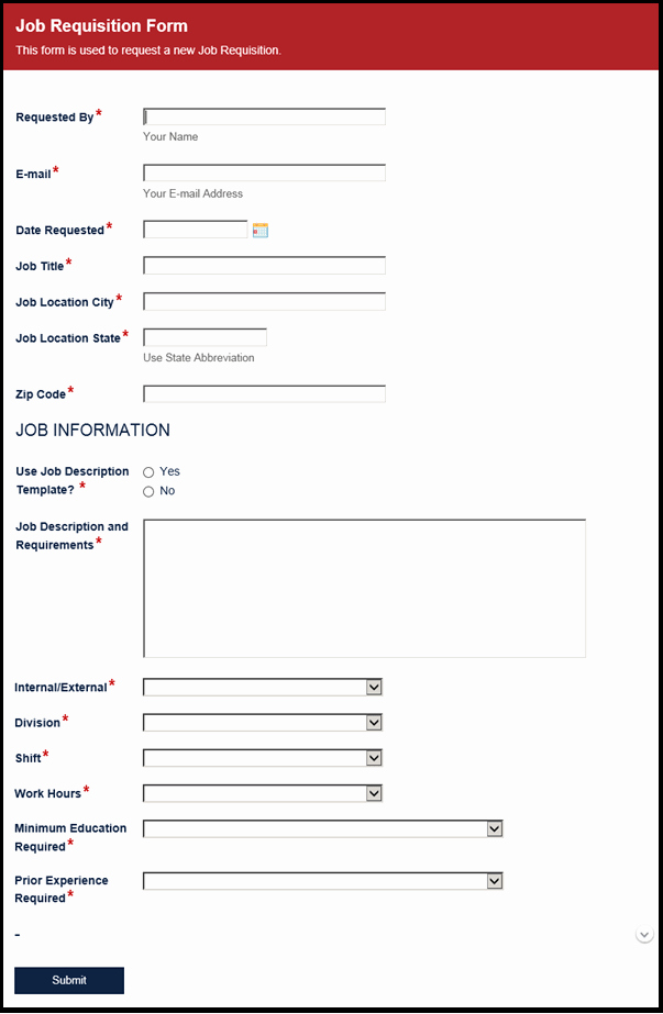 Position Requisition form Template Elegant Library assistant Cover Letter Template