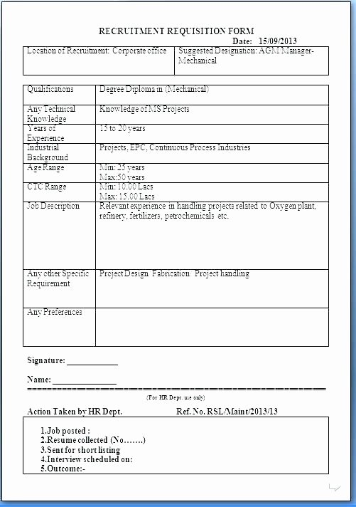 Position Requisition form Template Lovely Job Requisition Template Excel Five Things You Didn T Know