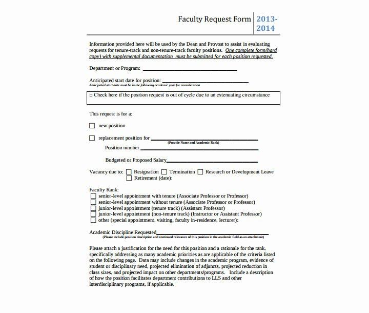 Position Requisition form Template Luxury 9 Position Request forms & Templates Pdf Doc Excel