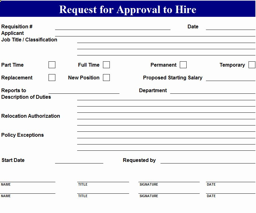 Position Requisition form Template Luxury Request to Hire form