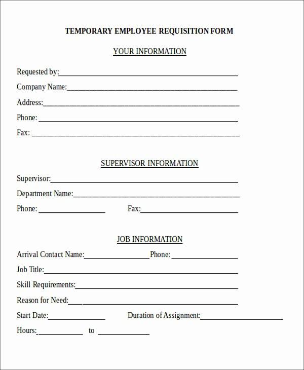 Position Requisition form Unique 22 Requisition forms In Doc