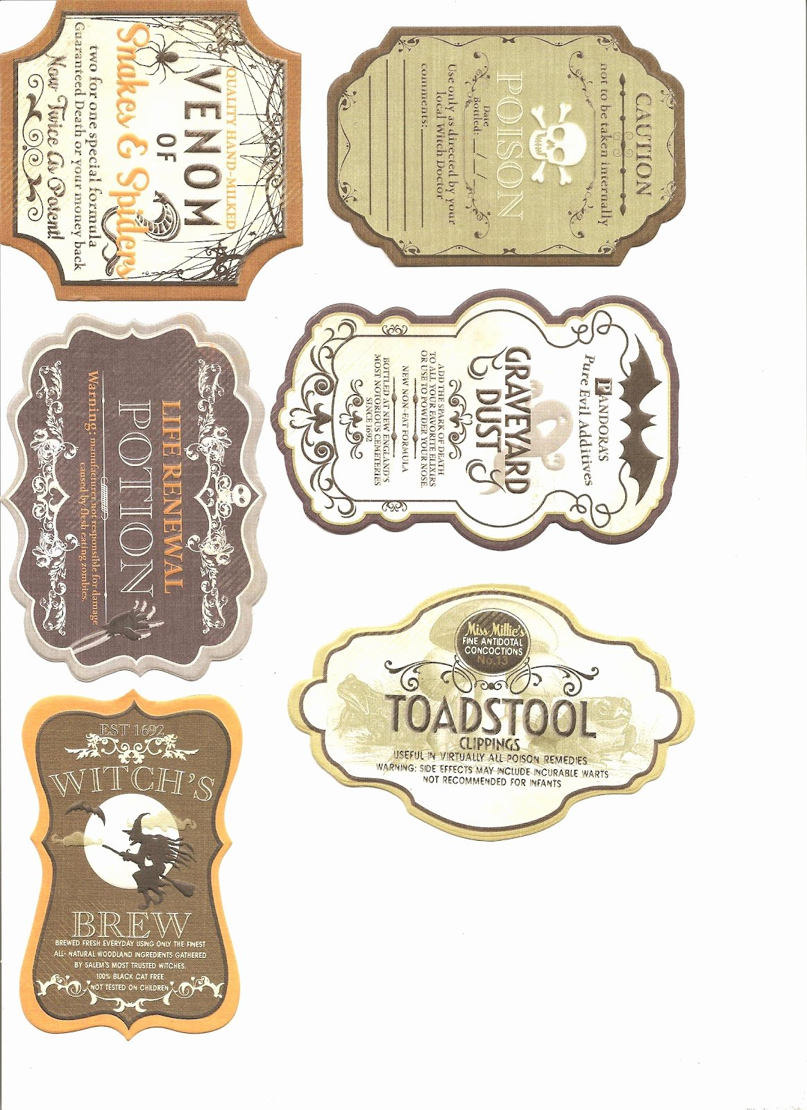 Potion Label Template Awesome A Small Hearts Desire Halloween Labels for Potion Bottles