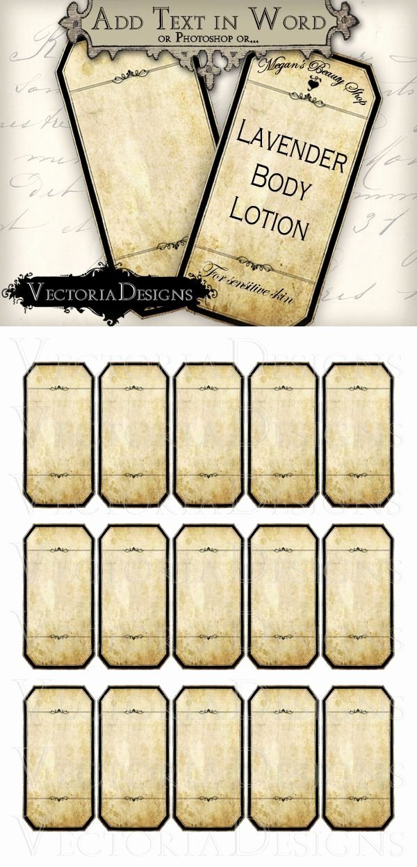 Potion Label Template Inspirational Printable Blank Apothecary Labels