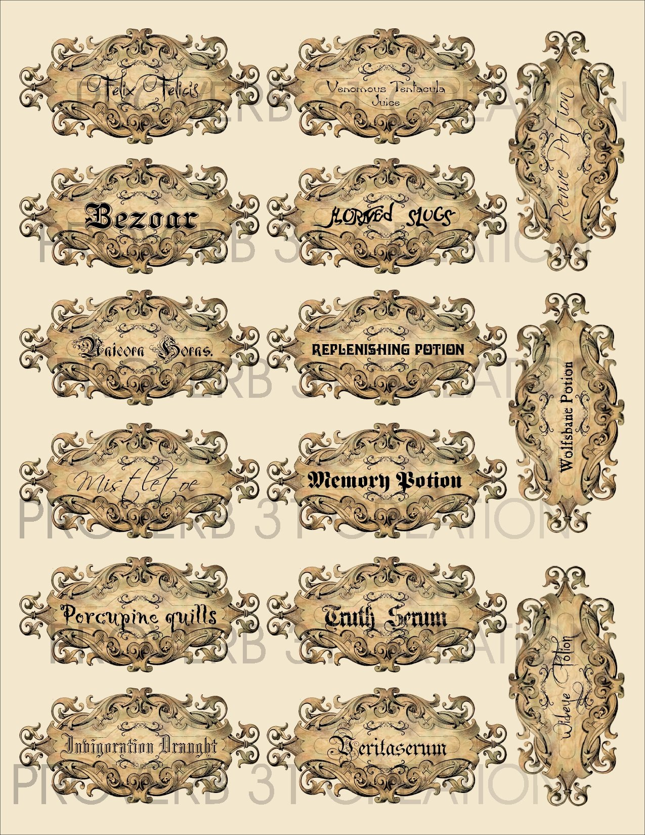 Potion Label Template Luxury Harry Potter Party – Water Walker events – Design – Planning