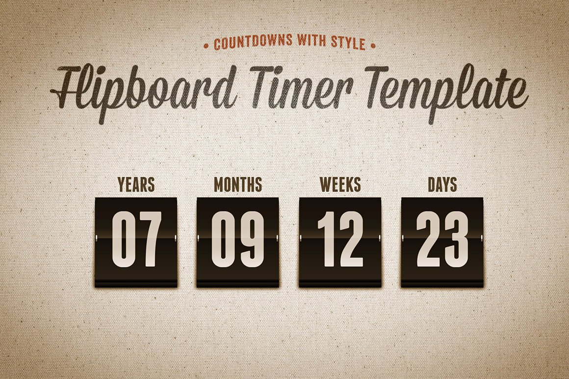 Powerpoint Countdown Timer Template Awesome Flipboard Countdown Timer Template