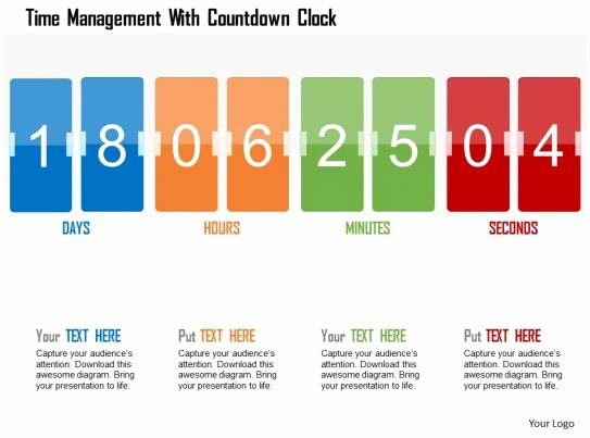 Powerpoint Countdown Timer Template Awesome Time Management with Countdown Clock Flat Powerpoint
