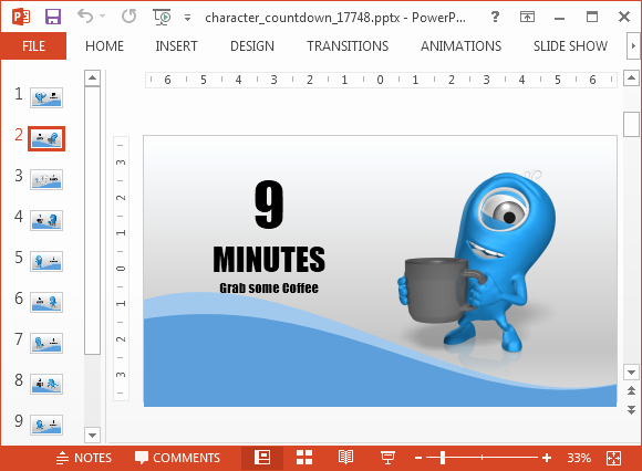 Powerpoint Countdown Timer Template Elegant Countdown Powerpoint Template with 10 Minutes Timer