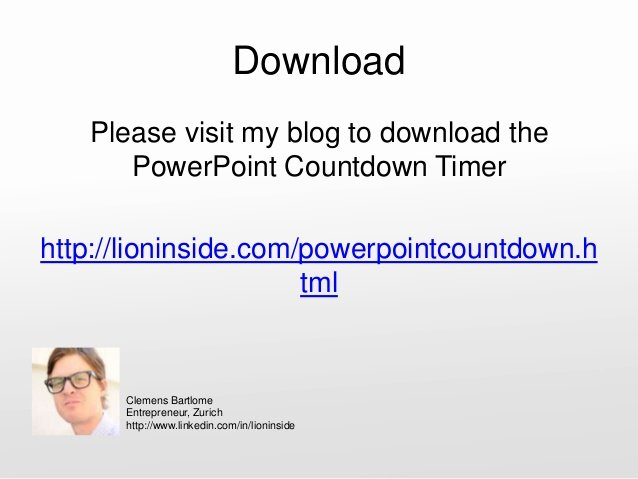 Powerpoint Countdown Timer Template Elegant Countdown Timer for Powerpoint