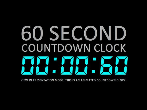 Powerpoint Countdown Timer Template Lovely 60 Second Digital Countdown Clock Presentation by