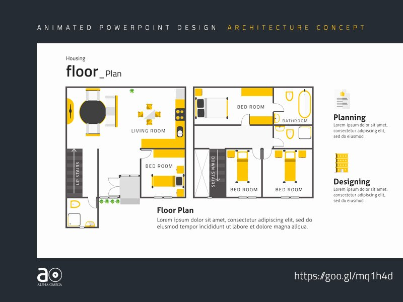 Powerpoint Floor Plan Template Elegant Arc Animated Presentation Template House Floor Plan by