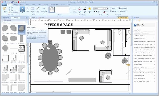 Powerpoint Floor Plan Template Inspirational Make Charts forms Maps and More with Smartdraw Vp