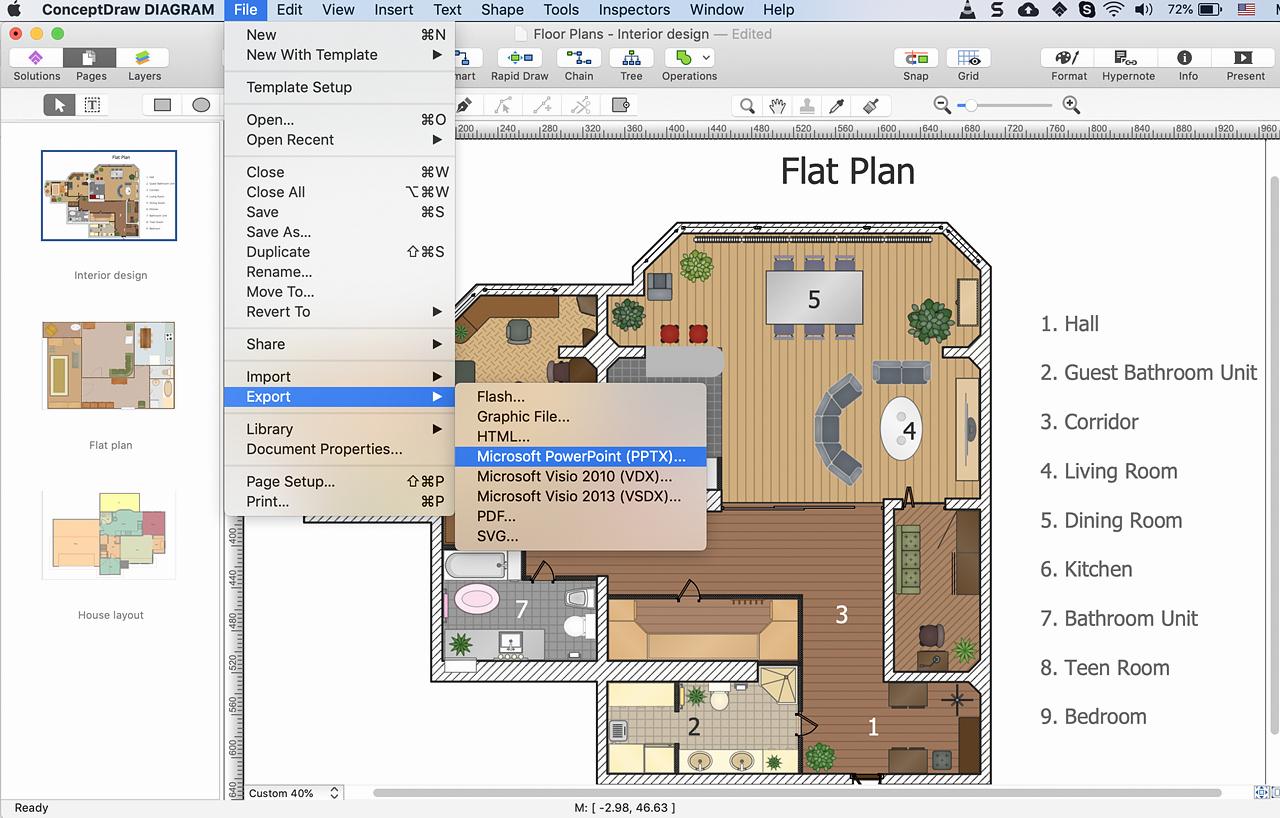 Powerpoint Floor Plan Template Inspirational Powerpoint Presentation Of A Floor Plan